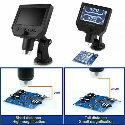1-600x 3.6MP LCD digitale elettronico microscopio portatile schermo OLED HD 4 CN