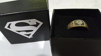 D.C.Superman Logo ,Sterling silver 1998  ring size 13 Mint.