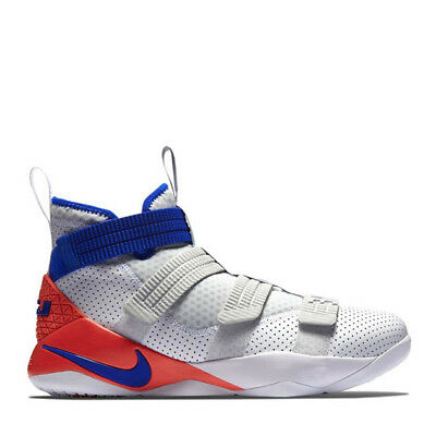 bad2e6057932f Nike LeBron Soldier XI SFG Men Shoes 897646-101 White Blue Infrared Size 14