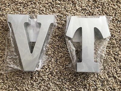 Choice of 4.5 Inch Tall Painted Wooden Letters Gold or Sliver MDF