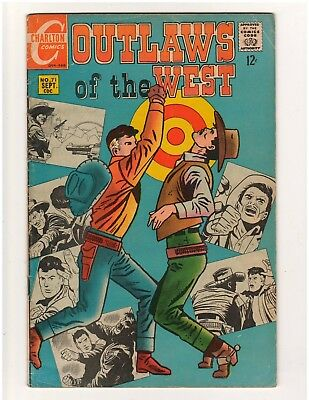 Western 2 book lot.  Outlaws of the West #71 1968, Cheyenne Kid #82 1971