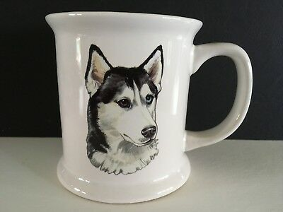 Large Siberian Husky Dog Coffee Mug One Blue Eye and One Brown Eye