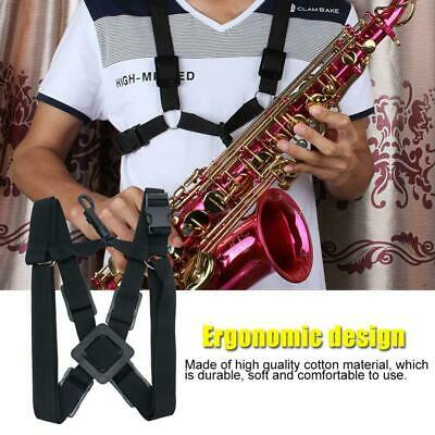 Adjustable Saxophone Strap Padded Neck Sling For Alto Tenor and Clarinet Cotton
