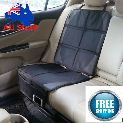 Universal Car Seat Covers PU Leather Front&Rear Seat Back Head Rest Protector AU