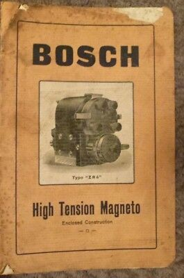 BOSCH High Tension Magneto Type ZR4 manual