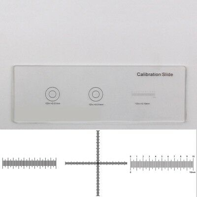 Cross Scale Ruler 0.1 0.01mm Microscope Stage Micrometer Calibration Slide 3 Dot