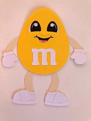 Yellow M&M - fully assembled die cut / paper piecing