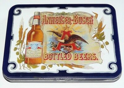 Vintage 1988 Anheuser-Busch Budweiser Bottled Beers Playing Cards - England New!