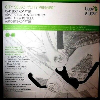Baby Jogger Ciity Select/city Premier Car Seat Adapter