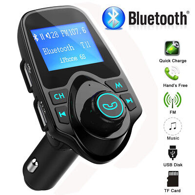 Mpow Wireless In-Car Bluetooth FM Transmitter Radio Adapter Car USB Charger