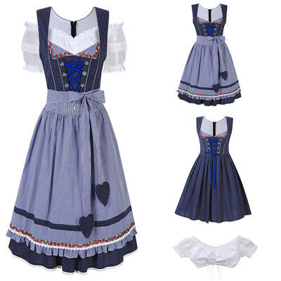 Dirndl Oktoberfest Ladies German Beer Maid Outfit Fancy Dress Party Costume Hot
