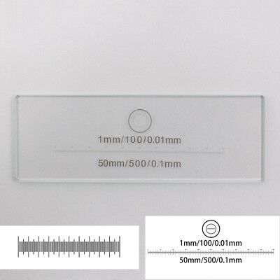 Microscope Stage Micrometer Calibration Slide Scale Ruler 0.1mm 50mm 0.01mm 1mm
