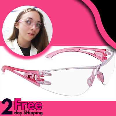 Cute Safety Glasses Women Stylish Pink Girly Lab Chemistry chemical Resistant