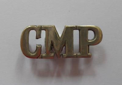 British Army. Corps Of Military Police Shoulder Title ( Metal ).