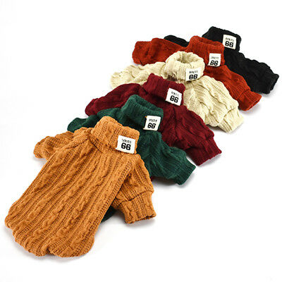 Dog Knitted Jumper Knitwear Chihuahua Clothes Warm Pet Puppy Sweater Coat Jacket