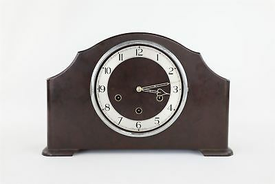 Brilliant Vintage SMITHS Bakelite Key-Wind MANTLE Clock WORKING