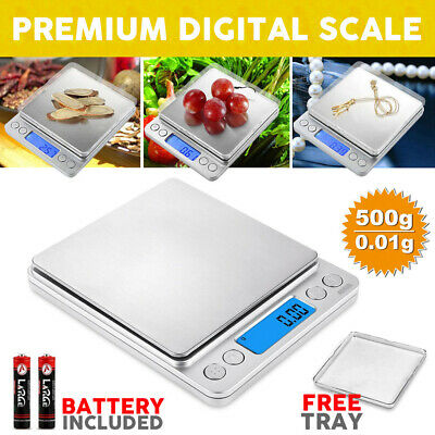 0.01-500g Kitchen Food Scale Weight Postal Scales Digital LCD Electronic Balance