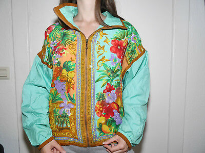 East West Vintage Hipster Jacke Jamaica Surfer Burning Man Hippy 90er 80er Blume