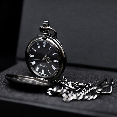 Fashion Mens Groomsman Pocket Watch & Antique Chain Fathers Day Birthday Watches