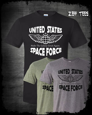 Trump Space Force T-Shirt Funny Make The Galaxy Great Again Meme God Emperor USA