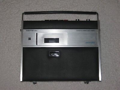 National - RS-255S - Portable Cassette Stereo - Solid State - Vintage - Mint