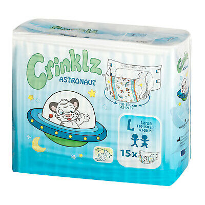 Adult Nappy / Diaper Crinklz Astronaut - Large - Pack of 15