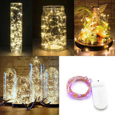 10/20 LED Battery Micro Rice Wire Copper Fairy String Lights Xmas Party Decor UK