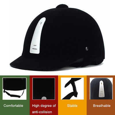 Horse Riding Helmet Hat Head Cap Equestrian Black All Size 52cm - 62cm Sports UK