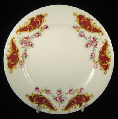 Queen Anne Red Scrolls & Roses Bone China Side Plate