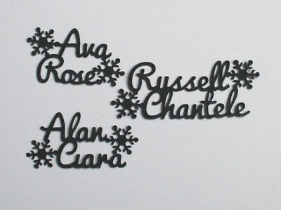 Personalised Script Table Confetti Double Name & Snowflakes - Wedding Birthday