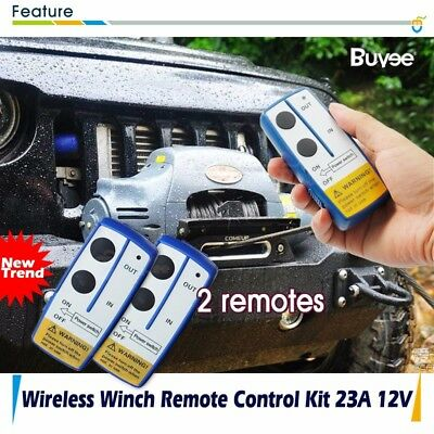 ELECTRIC WIRELESS WINCH REMOTE CONTROL HANDSET 12V Heavy Duty For Truck ATV SUV