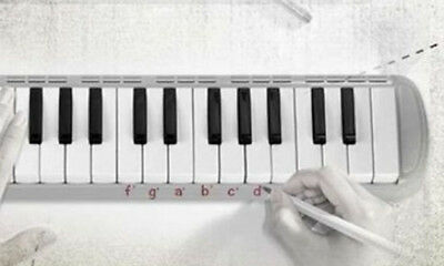 D10 37 Piano Keys Black Musical Instrument Melodica Pianica With Carrying Bag O