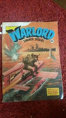 Warlord retro battle comic colour satin pages Sumer Special 1982