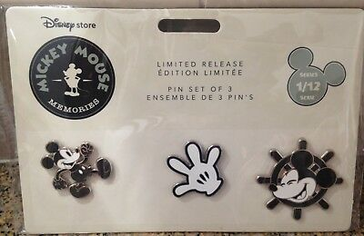 Disney Store Mickey Memories January Pin Set Series 1/12 Sold Out