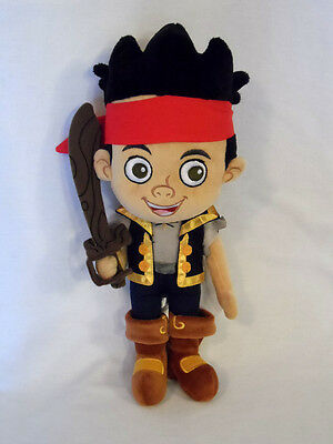 "DISNEY STORE 14"" Plush JAKE And The Never Land Pirates PETER PAN Boy Doll Sword"