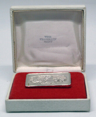 Sterling Silver Christmas 1974 Franklin Mint 1000 Grains 2.083 Troy Oz Bar