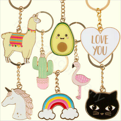 Novelty Keyrings Metal Key Chain Ring Animal Heart Collectable Gift Sass & Belle