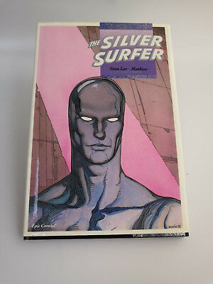 SILVER SURFER: PARABLE #1 HARDCOVER - Comic Graphic Novel 1988 Marvel Stan Lee