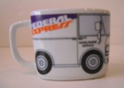 Federal Express FedEx Delivery Truck Van Coffee Mug Cup Used