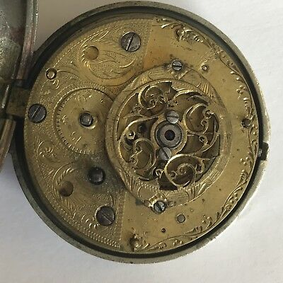 Antique 18th Century Verge Pair Case Pocket Watch T Whitt London A/F Not Working