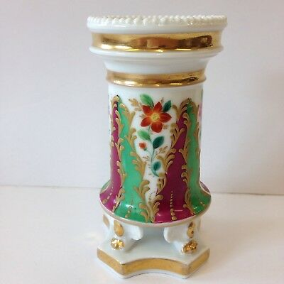Antique 19th Century French Porcelain Spill Vase Decorated With Flowers 13cm