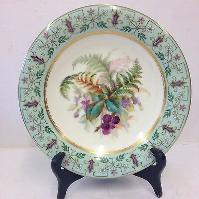 """Antique Royal Worcester Hand Painted Low Comport / Tazza Flowers 9 1/4"""". #"""