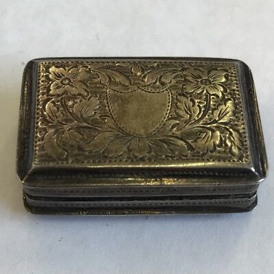 Antique William IV Solid Silver Vinaigrette Thomas Lawrence Grill Missing 1834