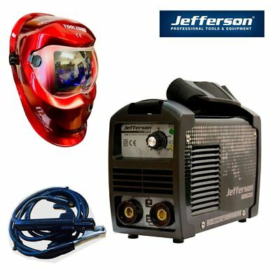 Jefferson Tools 140A DC Inverter Arc Welder 230v With Cool Red Auto Welding Mask