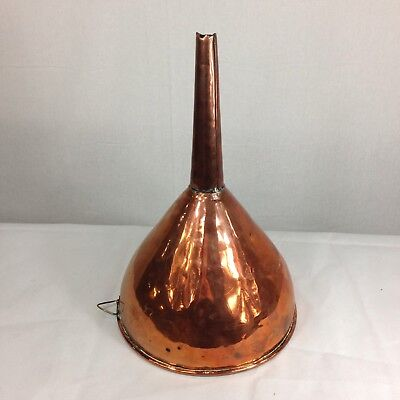 """Large Antique 19th Century Copper Brewing Funnel 15"""" Tall"""