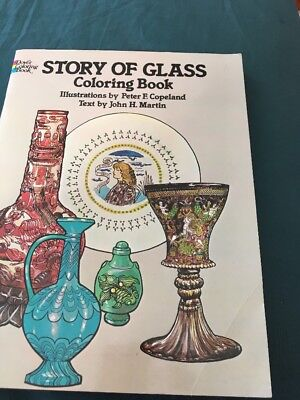 dover coloring book Vintage 1981 Story Of Glass