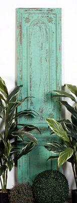 Vintage Style  Door Wood Wall Decor, Turquoise Garden Home Decor,18'' x 78''H