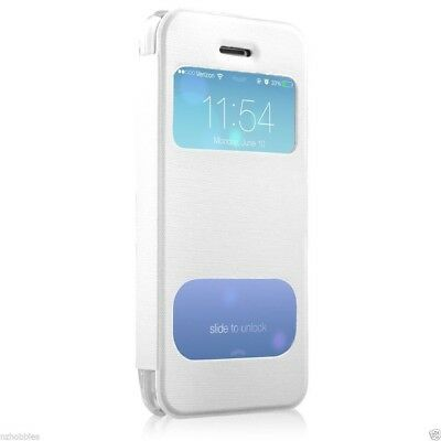 New HyperGear ID Flip Cover with Clear Back for Apple iPhone 5c - White # 12793