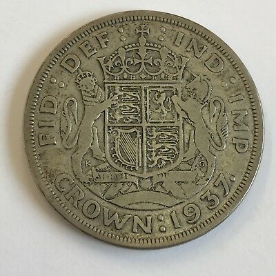 Silver 1937 Crown George VI Coin