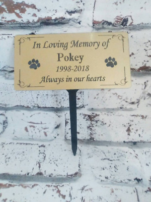 Engraved Memorial Stakegrave/tree Marker Cremation With Personalised Plaque